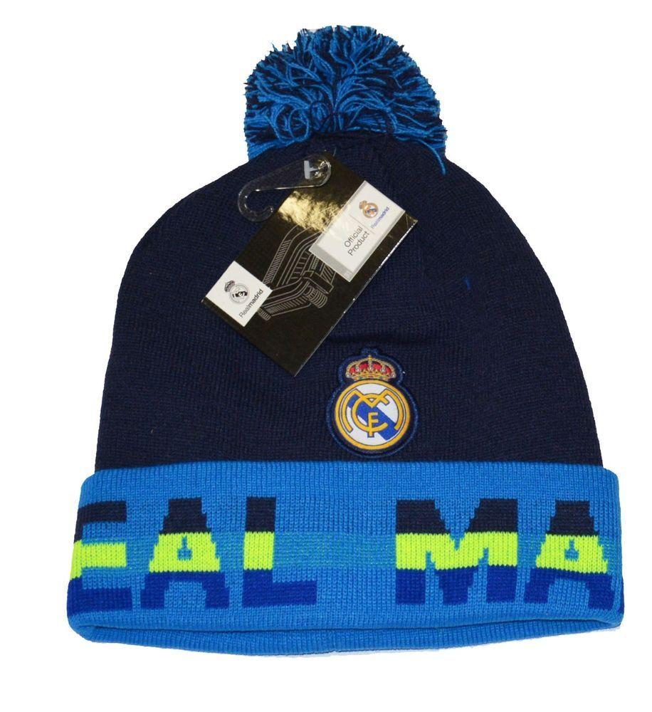 8fce6ad5af0 Real Madrid Beanie Pom Pom Skull Cap Hat New Season 2015-2016  Rhinox   RealMadrid