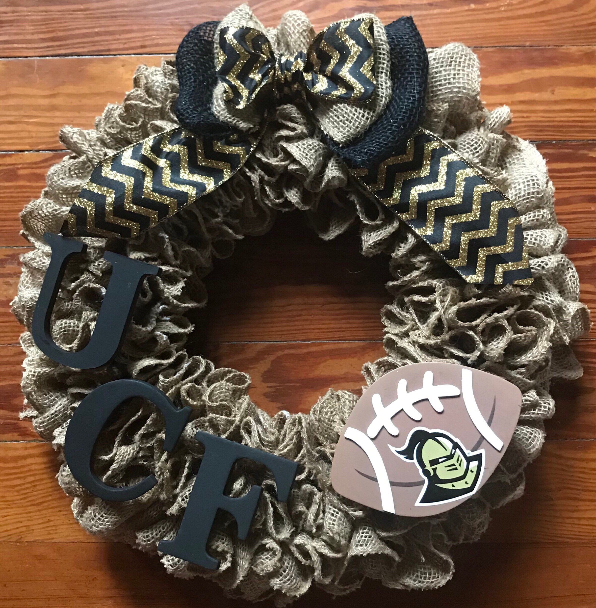 SEC college football university of central florida college gift UCF knight UCF Wreath burlap wreath knight wreath