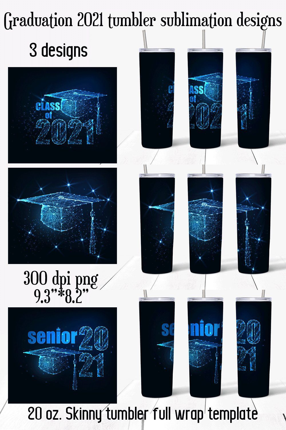 Instant Download 20 oz Skinny Tapered /& Str8 Sublimation Tumbler Design PNG File 2021 TUMBLER DRIVE Ready to Print