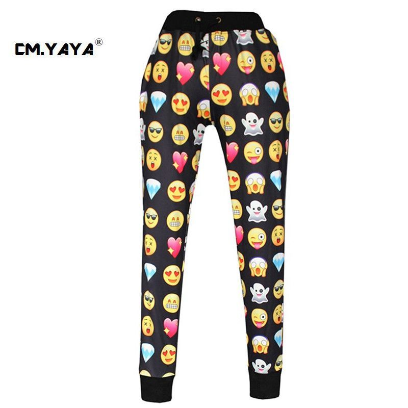 CMYAYA 2016 New Casual Black Print Emoji Men/Women/Girls/Boys Enjoy 50% Discount at our web shop http://www.aliexpress.com/store/536244