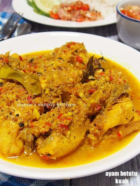 Ayam Betutu Masak Kuah Makan Malam Resep Makanan Resep Ayam