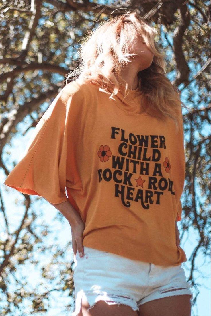 Rock & Roll Flower Child Sunset Hoodie #hippie