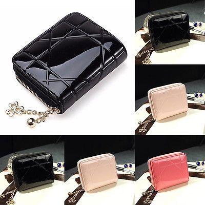 12b4978c6206 Women Credit Card Coin Money Holder Wallet PU Leather Handbag Clutch ...