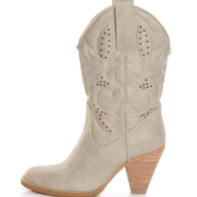 look for picked up running shoes Very Volatile Shoes | Cowboy Boots | Color: Cream/White | Size ...