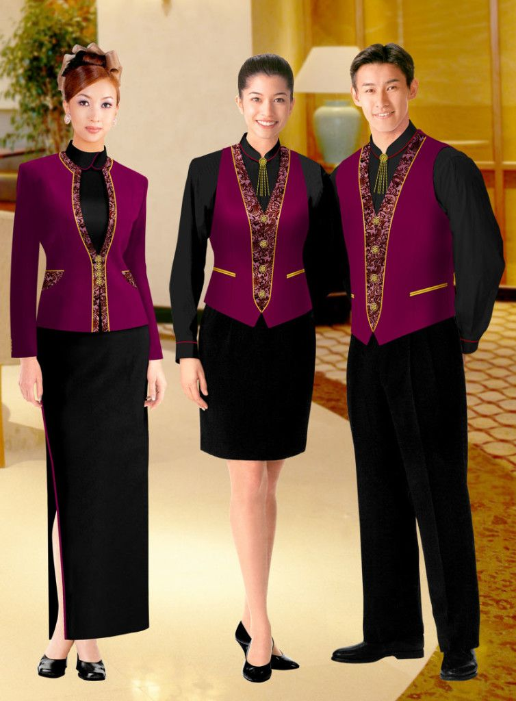 Hotel sets of uniforms for all staff sparkling for Spa uniform uae