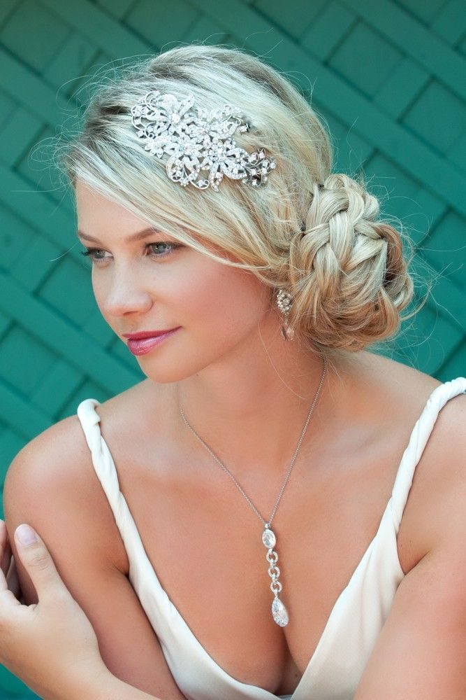 Sparkling Headband. Wonderful placement and adorable bun.  d2fcd1ce51f