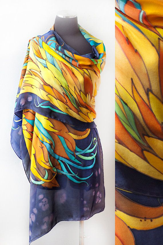 graphic relating to Printable Silk Fabric known as Wings Shawl Hand Painted Shawl Developing Fenix Customized Created