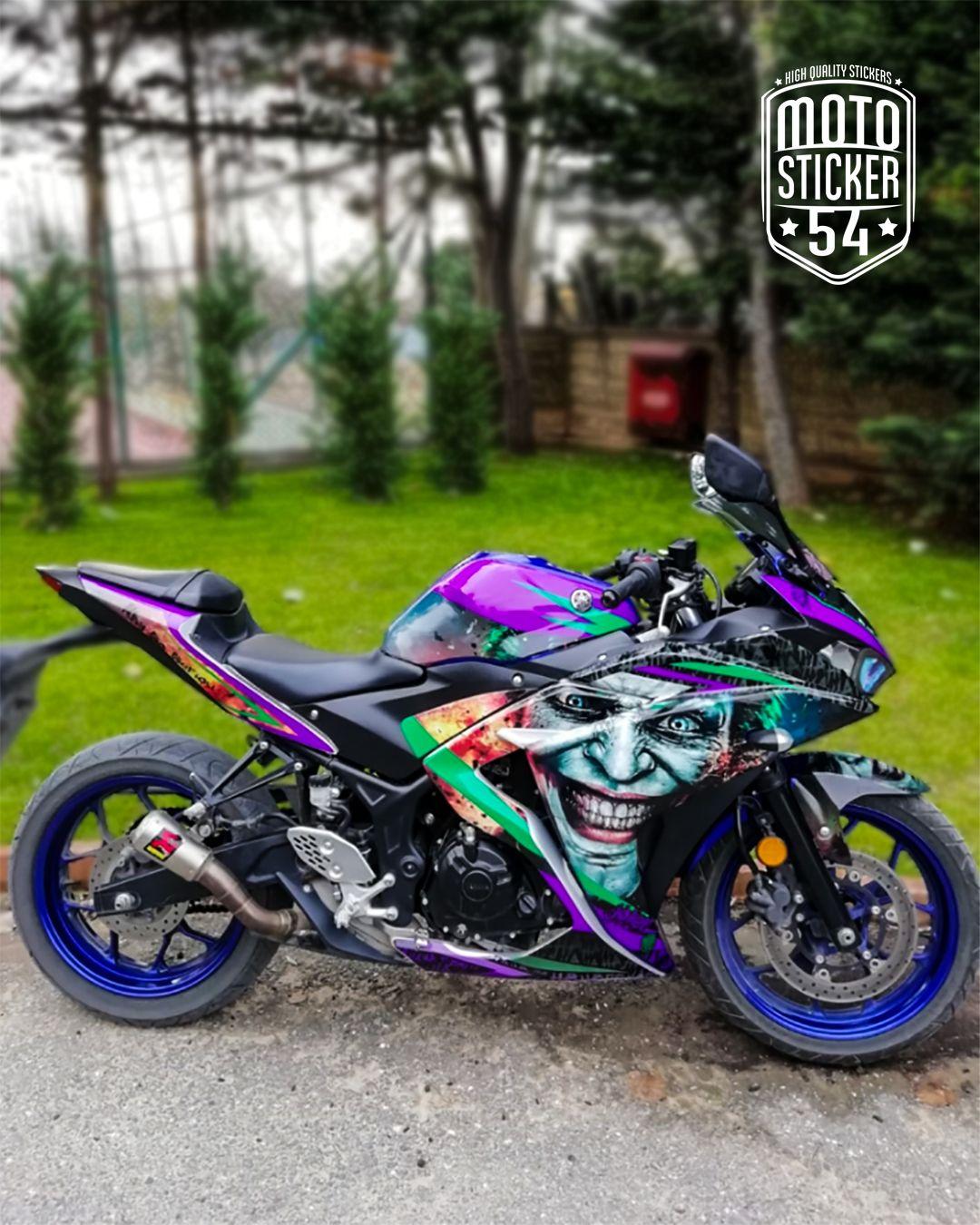 Yamaha R25 Joker Design Sticker Kit Motorlar Motosikletler Arabalar