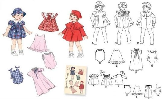 Free Printable Doll Clothes Patterns | Baby Doll - Doll ... - photo #39