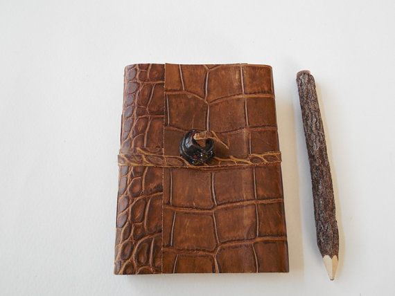 Brown Embossed with Glass Bead