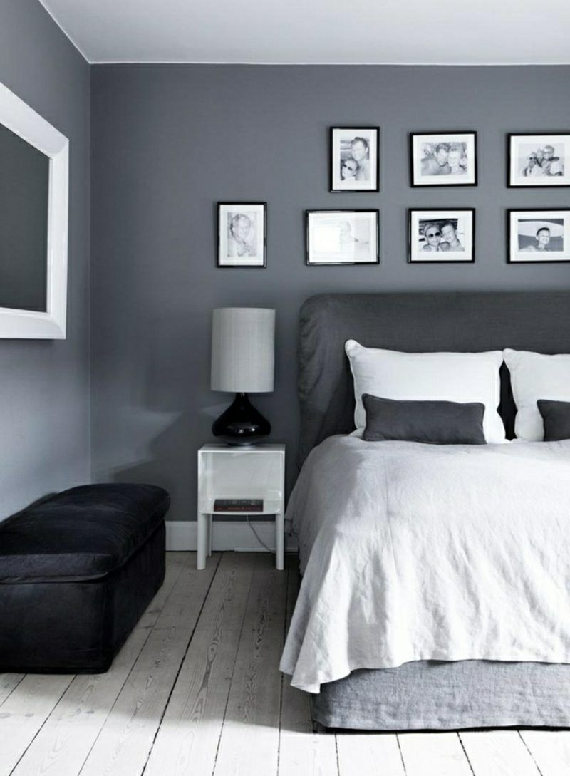 Wandfarbe Grau Für Eine Harmonische Und Moderne Wandgestaltung Schlafzimmer Alpina Passt Ideen K Gray Bedroom Walls Bedroom Wall Colors Bedroom Wall Paint