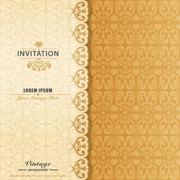 Invitaci n elegante ornamental vector gratis dibus e - Plantillas para reposteria ...