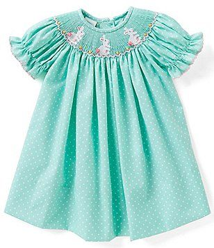 507bab693 Edgehill Collection Baby Girls 3-6 Months Easter Bunny Embroidered ...