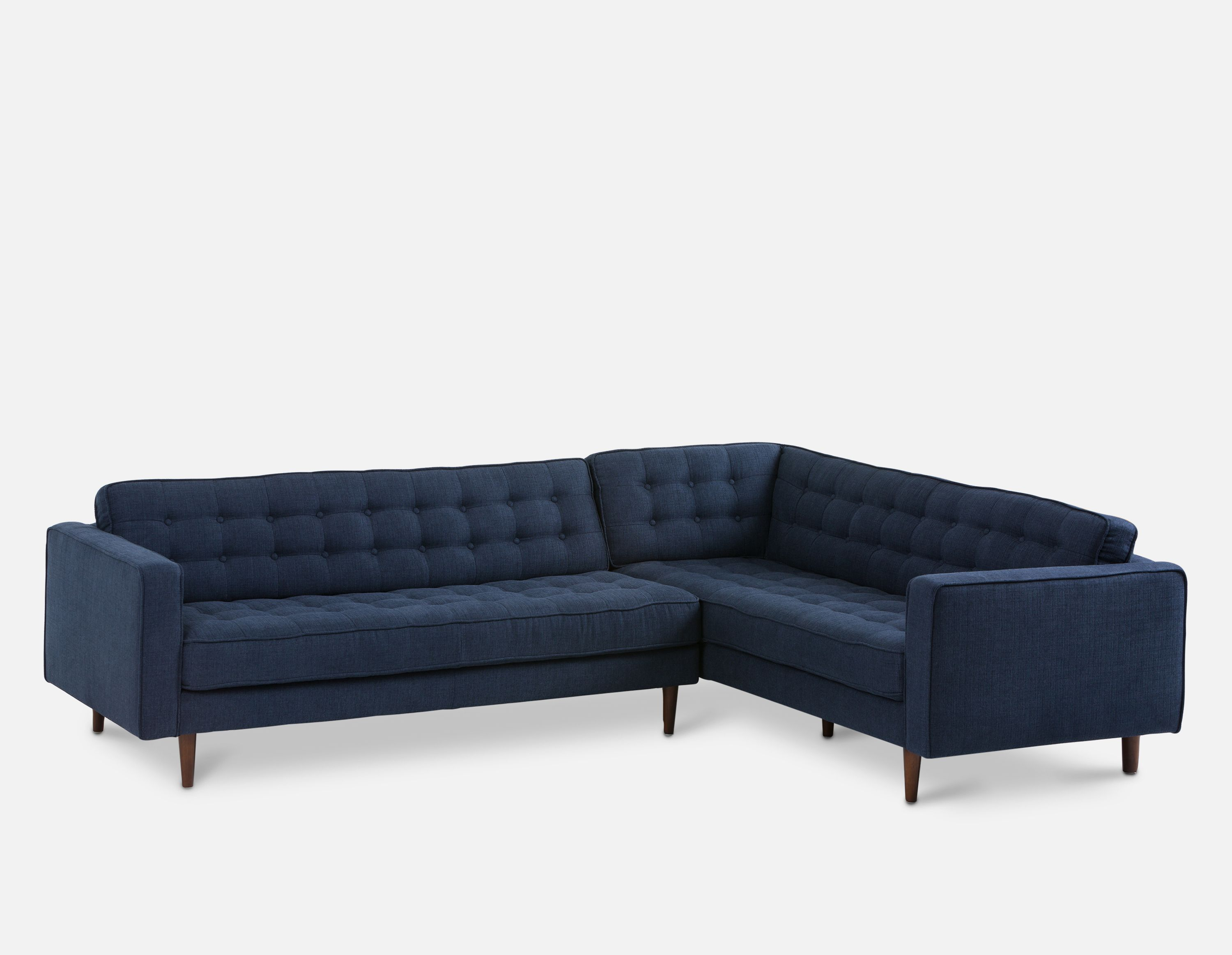Awesome Blue Right Facing Sectional Sofa Structube Flanigan In Creativecarmelina Interior Chair Design Creativecarmelinacom