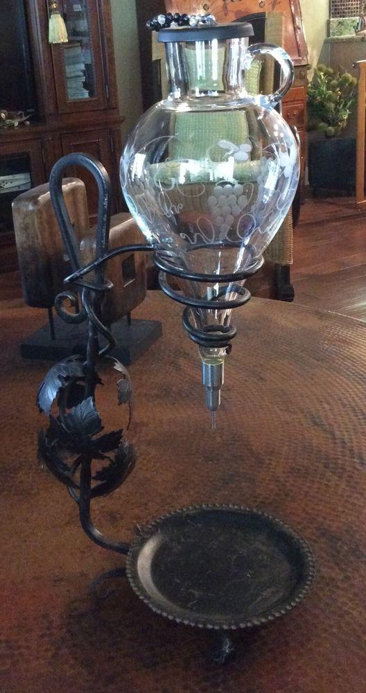 Red waterford vintage wine glasses light