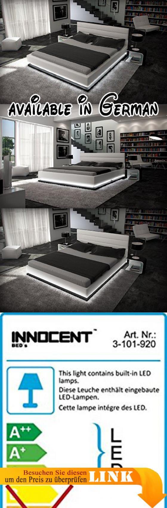 B00EOKITT6 : Doppelbett Kunstlederbett RIPANI 180 x 200 cm weiss ...