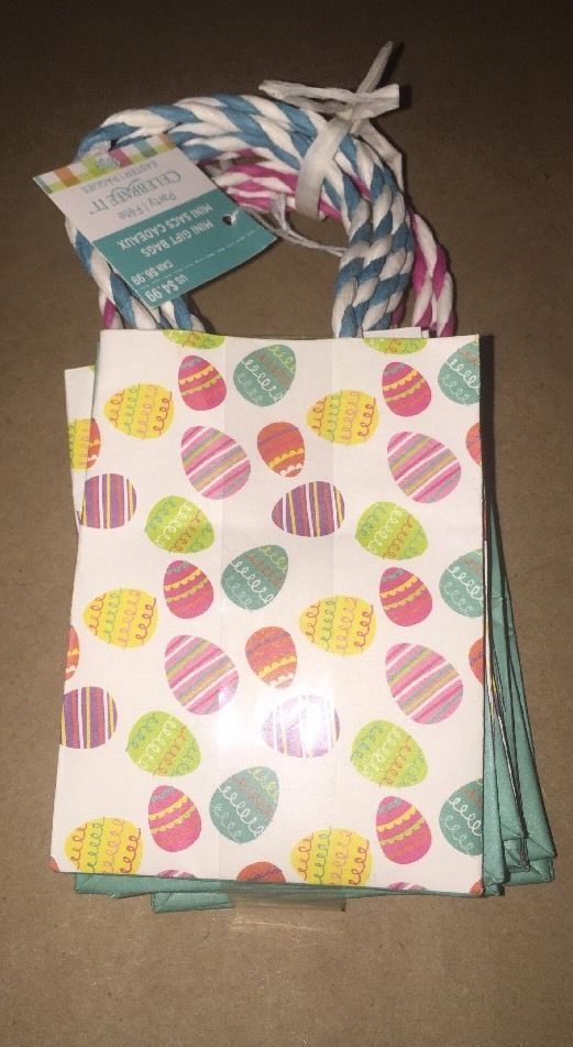 10 pc celebrate it mini gift bags pastel colors easter eggs party 10 pc celebrate it mini gift bags pastel colors easter eggs party bags new ebay negle Gallery