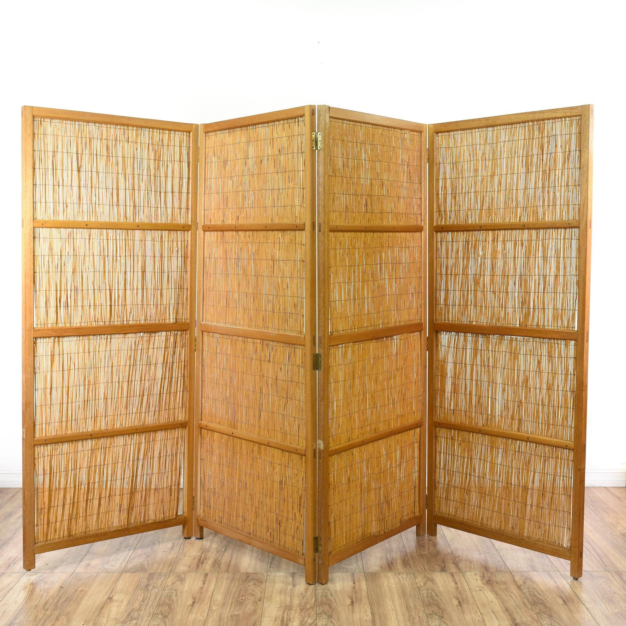 Large wood u bamboo room divider screen bamboo room divider room