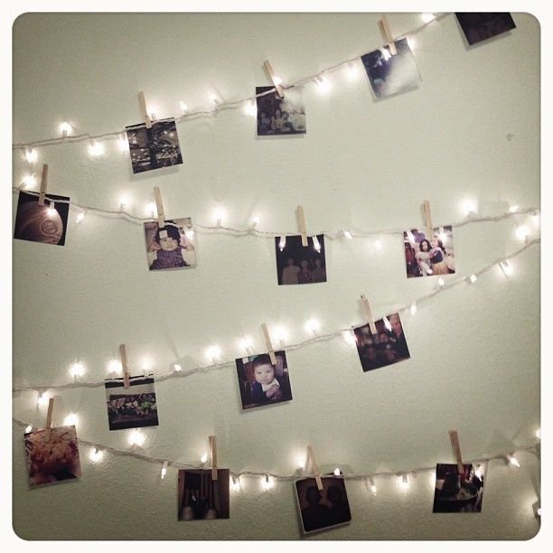 1.5m 10 Led Hanging Card Picture Clips Photo Pegs String Light Lamp Indoor Decor Home Garden Decoration Light D# Elegant Shape Lighting Strings