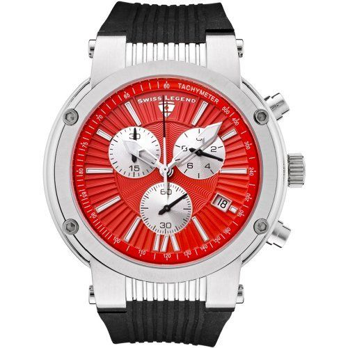 Swiss Legend Men's 10006-05-SB Legato Cirque Collection Chronograph Rubber Watch Swiss Legend. $97.99