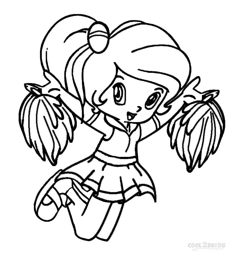 Cheerleading Coloring Pages Coloring Pages Sports Coloring