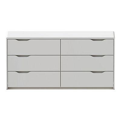 commode blanche laqu e 6 tiroirs atelier bureau pinterest commode noir laqu alin a et. Black Bedroom Furniture Sets. Home Design Ideas