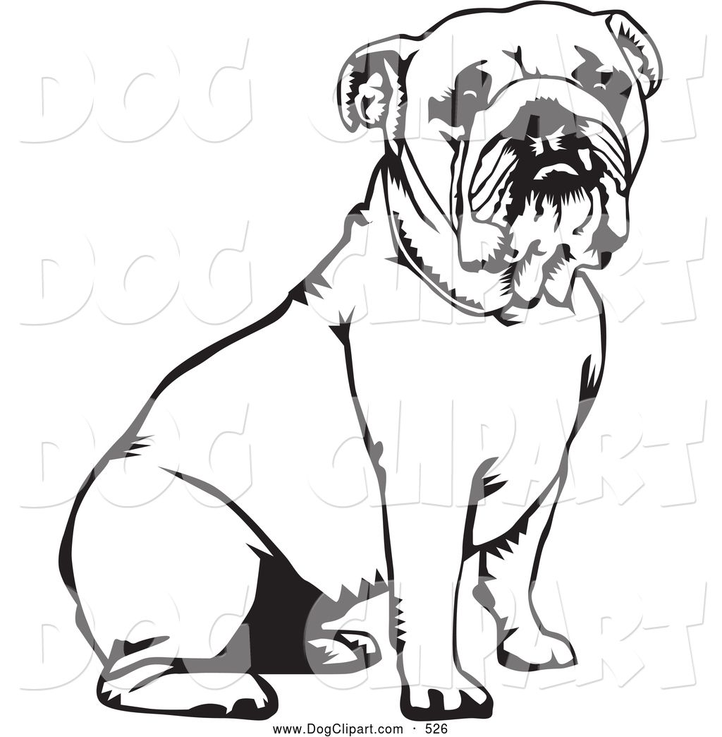 Bulldog Clipart Black And White Clipart Panda Free Clipart