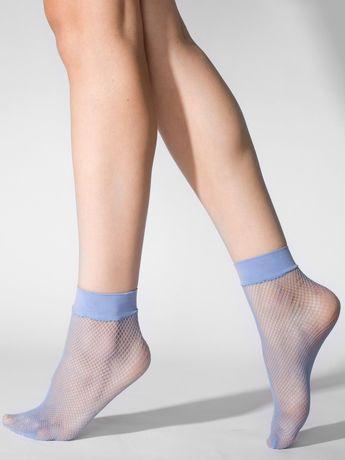 fishnet sock in french blue