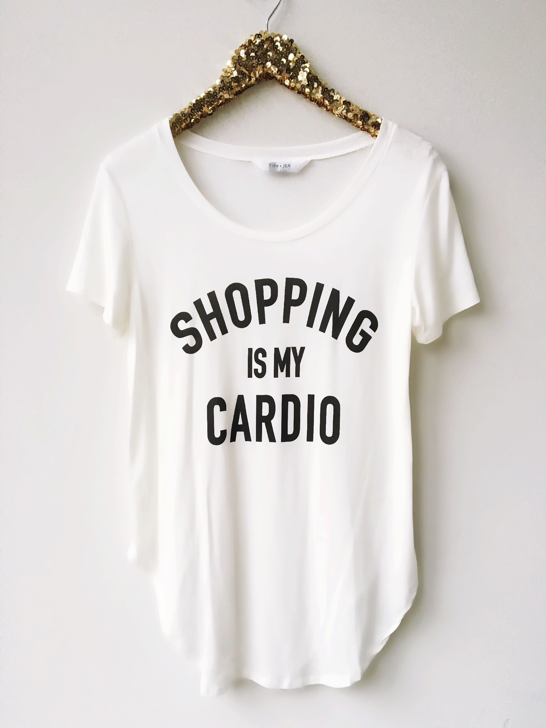 Graphic Tees, Shopping, cardio, funny shirts, shirts with