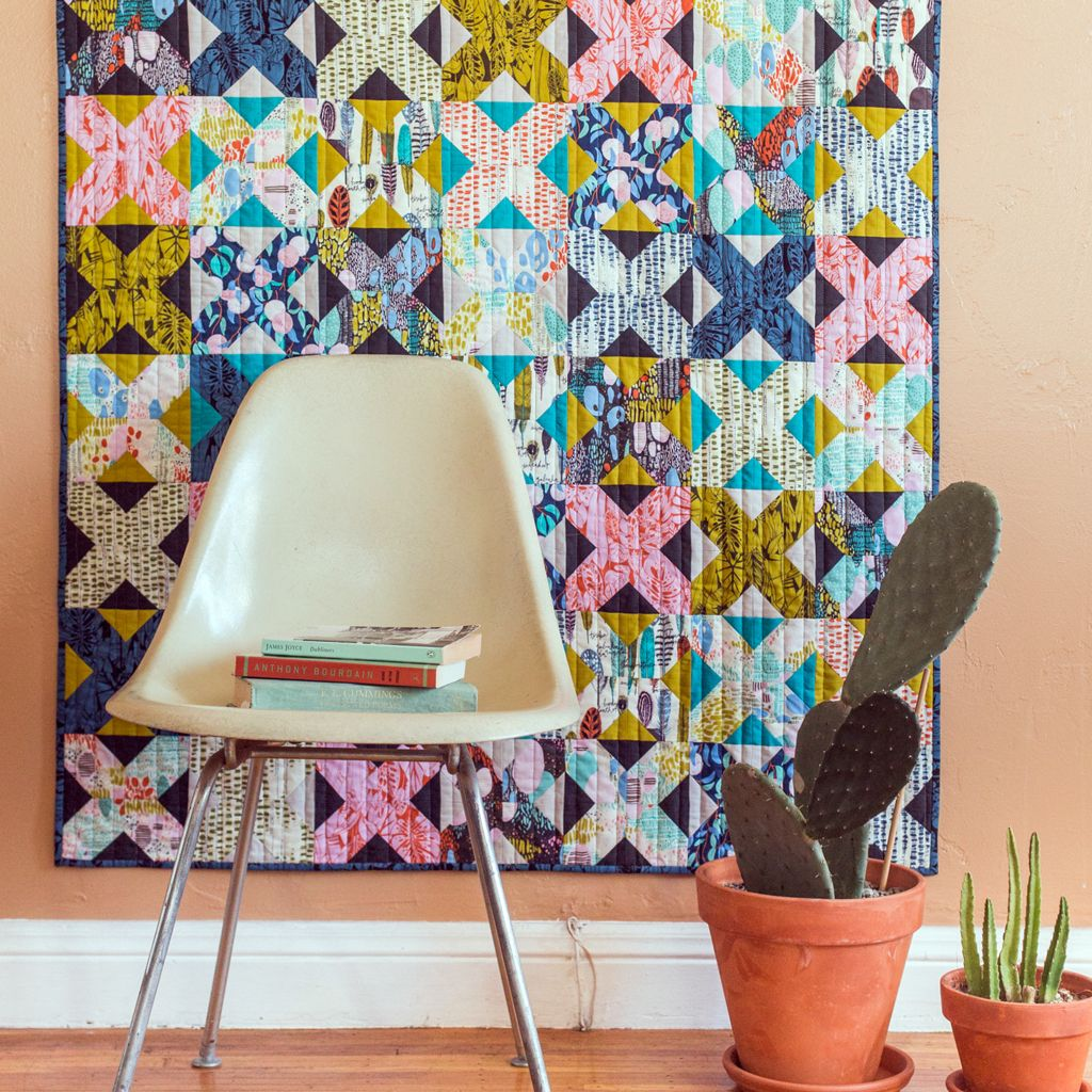 Trellis Quilt by Michelle Engel Bencsko Quilters Cotton from Bird's Eye  View by Sarah Watson for Fabrics