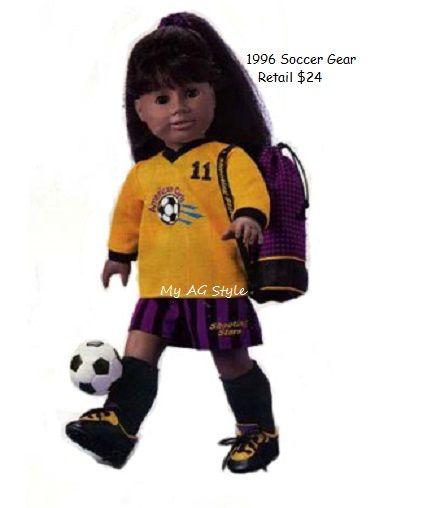 American Girl Doll Soccer Gear 1996