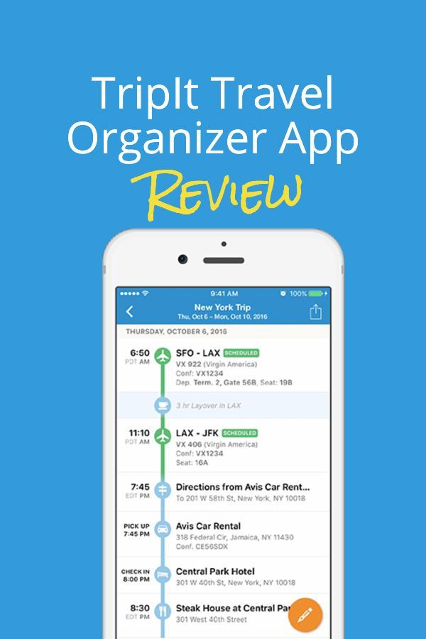 Tripit Pro Review The Must Have Travel Organizer App in