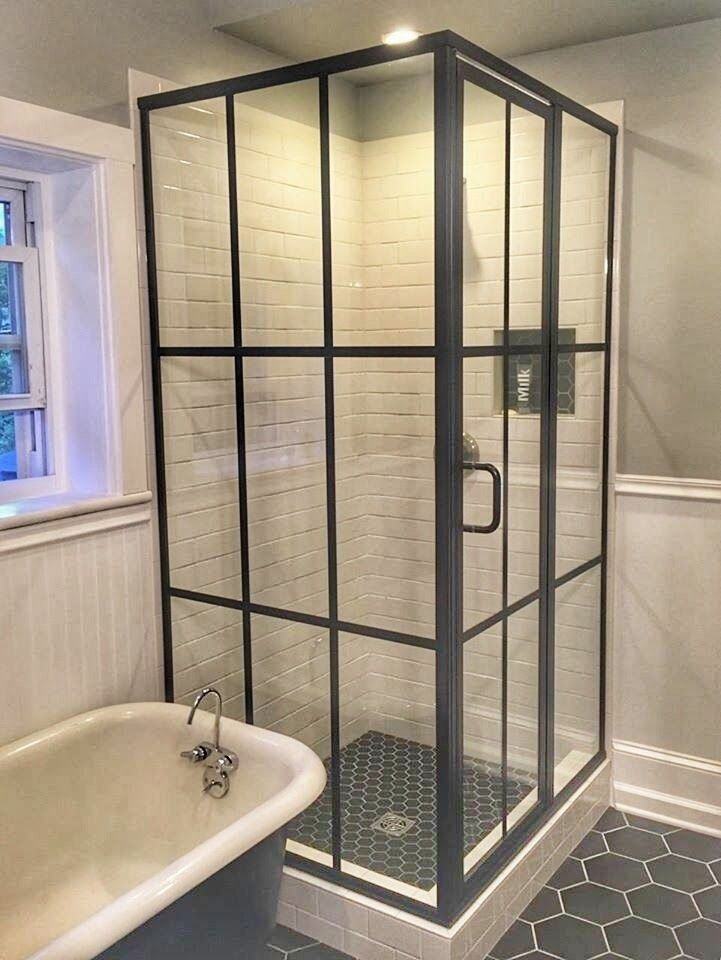 Bronze Framed Glass Shower Enclosure This Is A Bit Of A Throwback