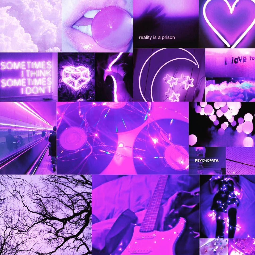 Aesthetic Collage Wallpaper On Instagram Purple Aesthic