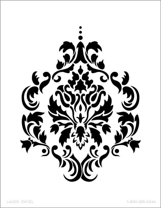 Reusable Large Wall Damask Floral Stencil Pattern New Original Art