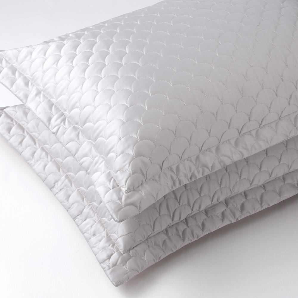 Nikki Chu Silver Queen Pillow Cover Sh000562 Q Silv Quilted Pillow Shams