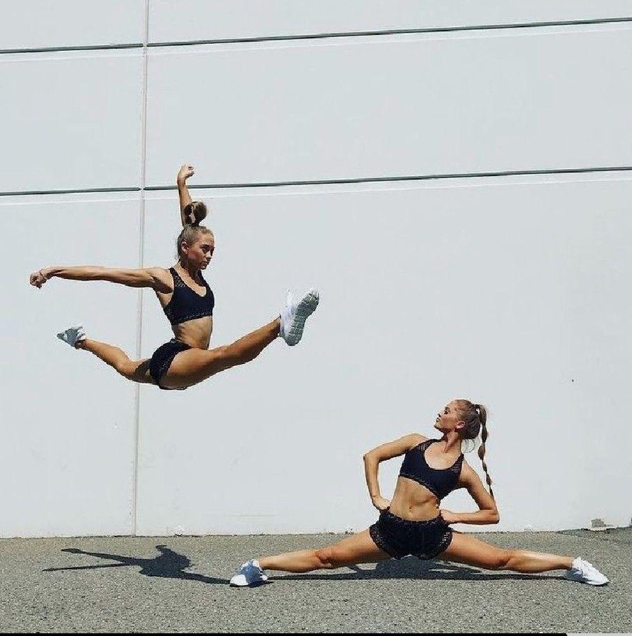 Pin By Aubrey Ward On Rybka Twins In 2020 Gymnastics Poses Acro Dance Gymnastics Flexibility