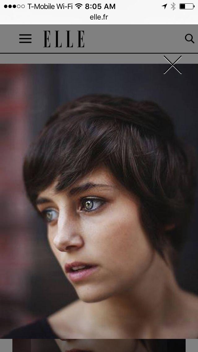 Pin By E O On Short Hair No Bangs Pinterest Short Hair And Bangs