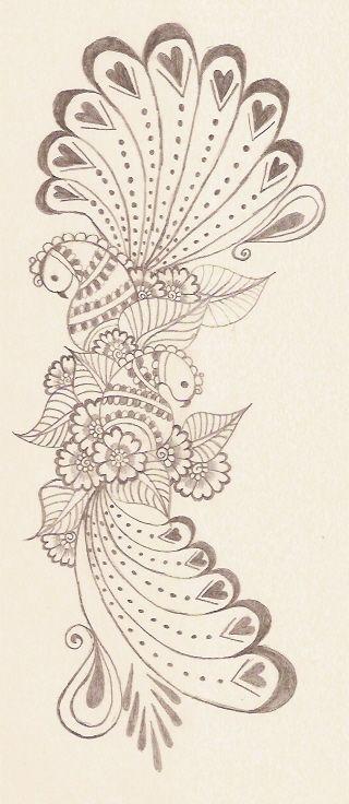 Peacock Design Henna Tattoo: Paisley Phoenix!!