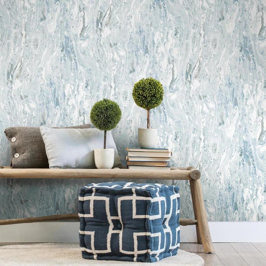 Blue Satellite Seas Peel And Stick Wallpaper In 2021 Peel And Stick Wallpaper Wallpaper Roll Room Visualizer