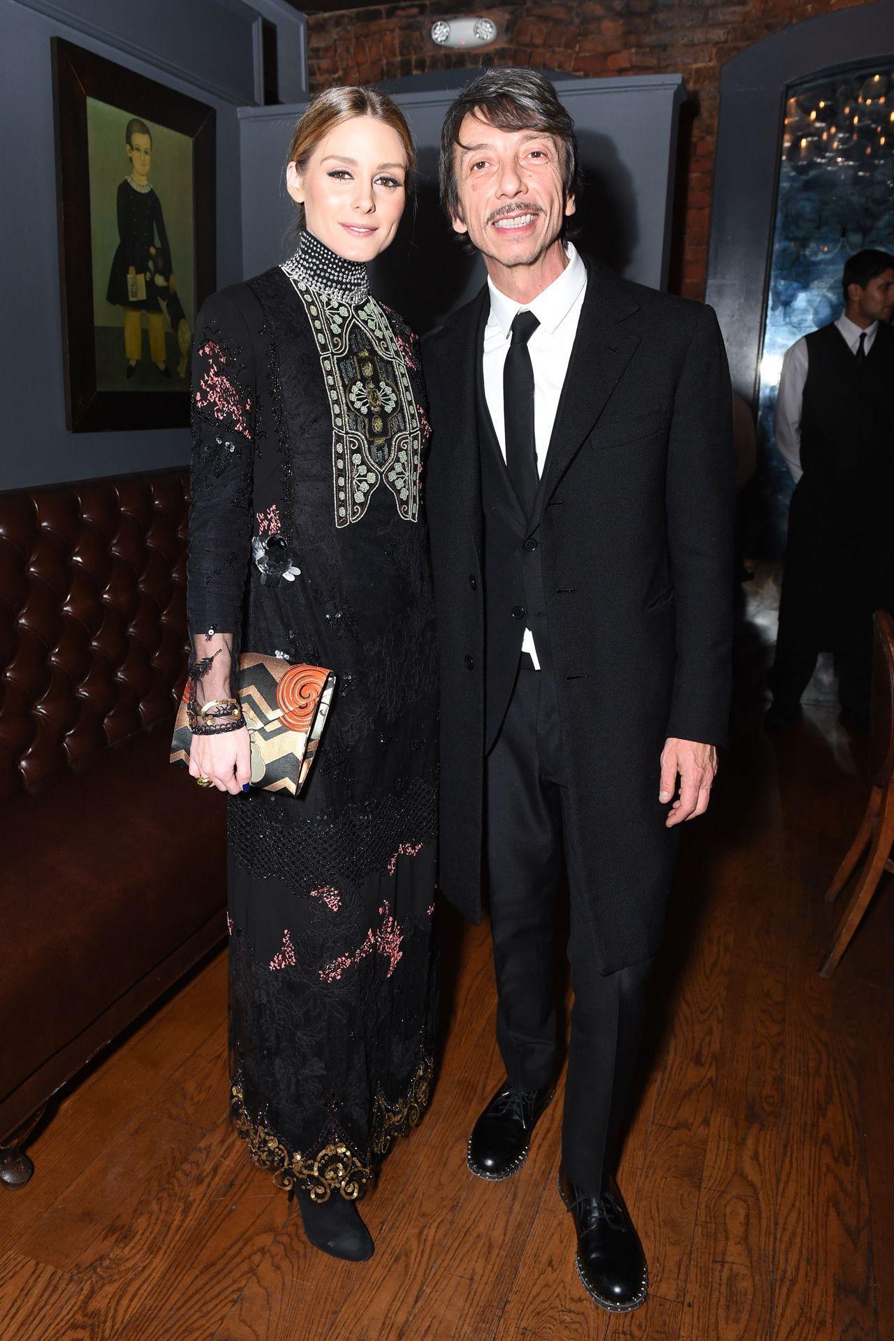 Olivia Palermo and Pierpaolo Piccioli - Valentino dinner, New York - January 11 2017