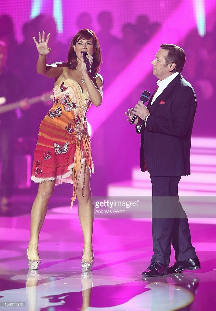 Andrea Berg And Roland Kaiser Perform On Stage During The Andrea Berg Grundrezept