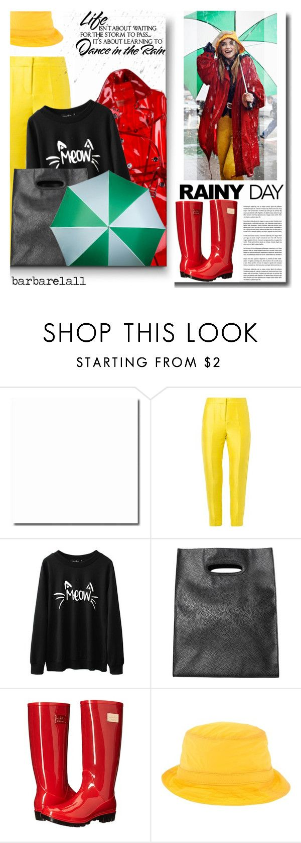 """""""Rainy Day Style"""" by barbarela11 ❤ liked on Polyvore featuring Mode, Burberry, Markus Lupfer, Monki, Nicole Miller und Dsquared2"""