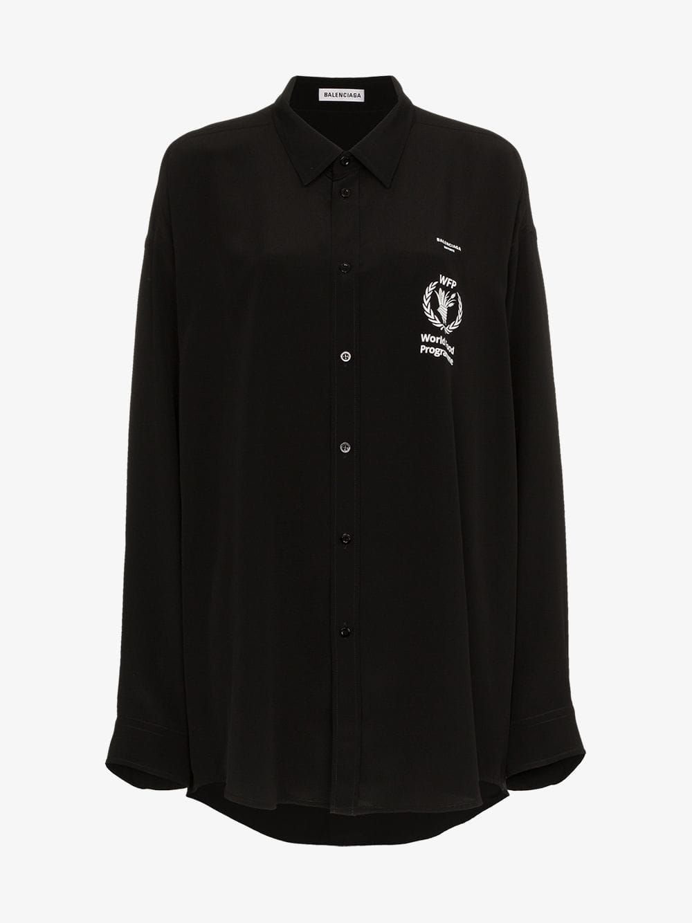 56d34906755ee0 WFP logo print silk shirt in 2019   N E W L O O K   Shirts, Adidas ...