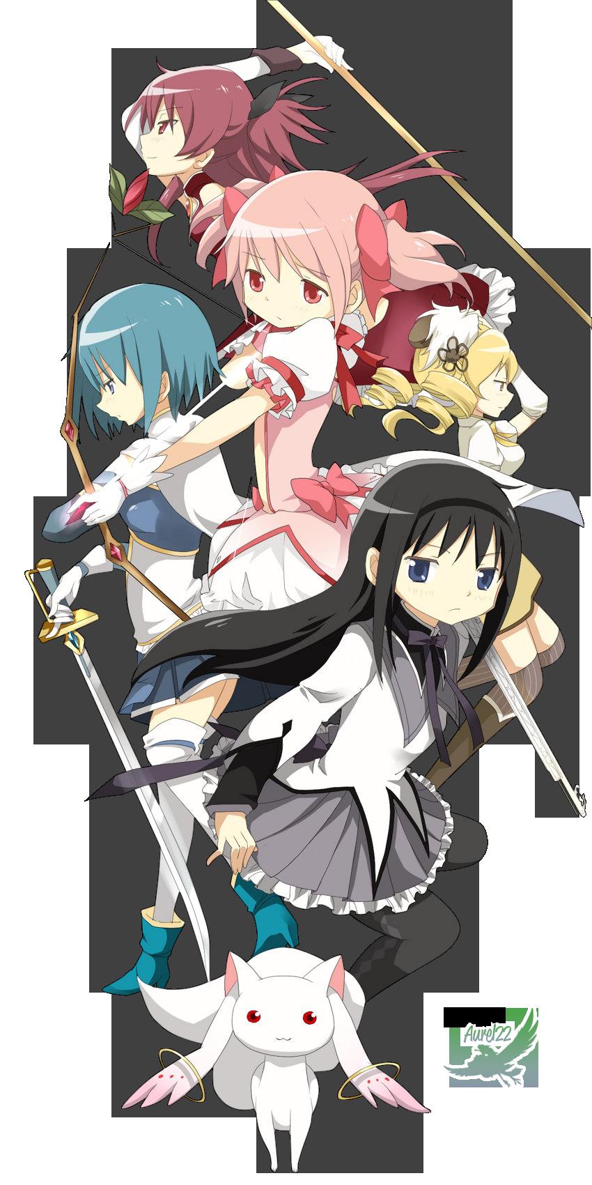 Puella Magi Madoka Magica Group 2 Render By Anouet Deviantart Com On Deviantart Mahō Shōjo Madoka Magica Puella Magi Madoka Magica Anime