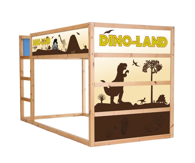 Dinosaur sticker set for ikea kura im02 kitchen home toddler boys room - Stickers bambini ikea ...