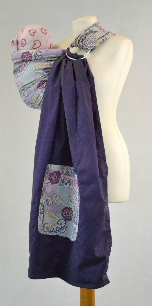 2183d62cc8a Palm and Pond Adjustable Ring Sling Baby Carrier - Purple Paisley ...