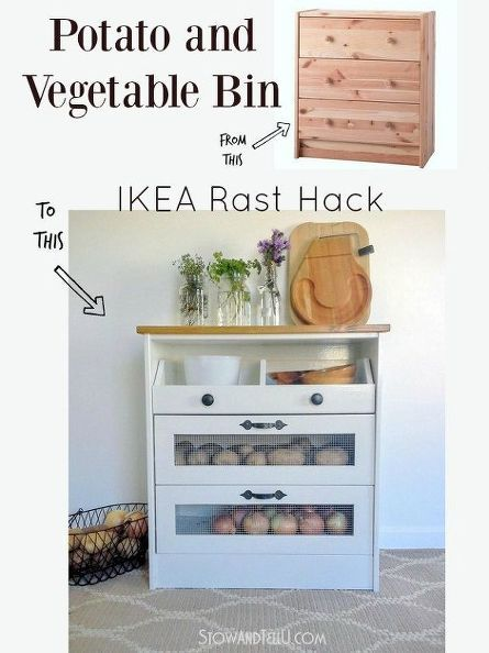 Diy Potato And Vegetable Storage Bin Ikea Hack Also Can Serve As A Portable Pantry Perfect For Organizing Freeing Up E In Your Kitchen