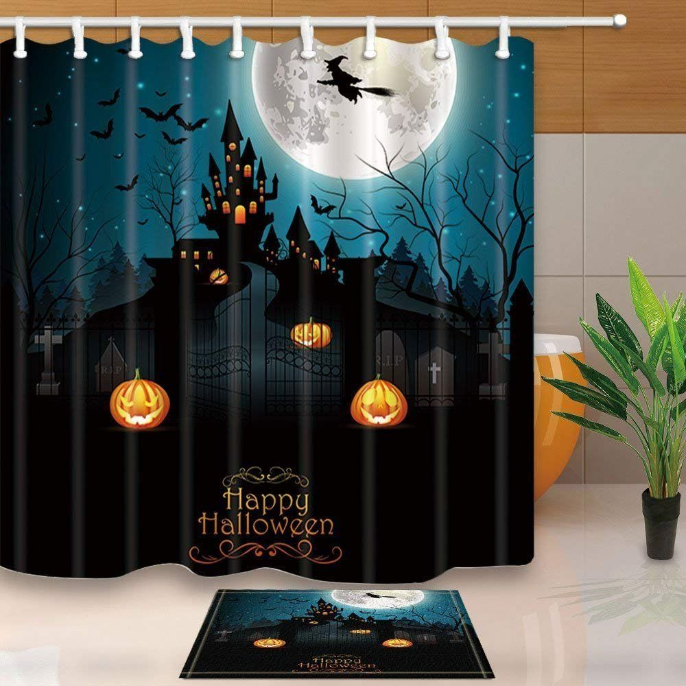 Cdhbh Halloween Decor Flying Witch With Scary Graveyard And