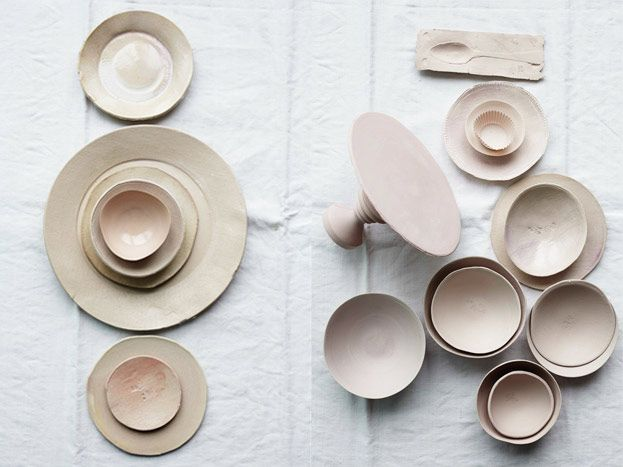 pale shades of dietlind wolf ceramics at piet boon showroom 8.-13.april 2014